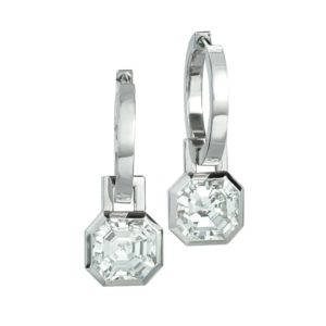 Silverhorn - Asscher cut diamond earrings