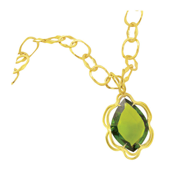Silverhorn peridot pendant