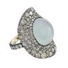 Silverhorn cats-eye ring