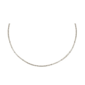 Silverhorn diamond collar necklace
