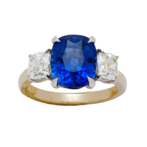 Silverhorn sapphire and diamond ring