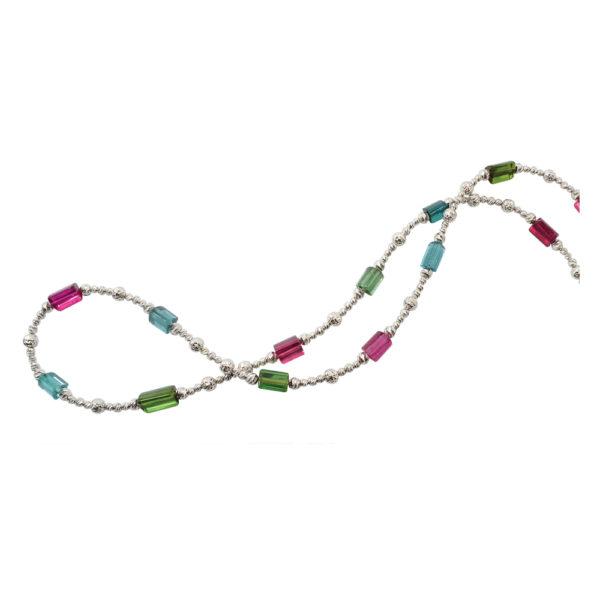 Silverhorn watermelon tourmaline necklace