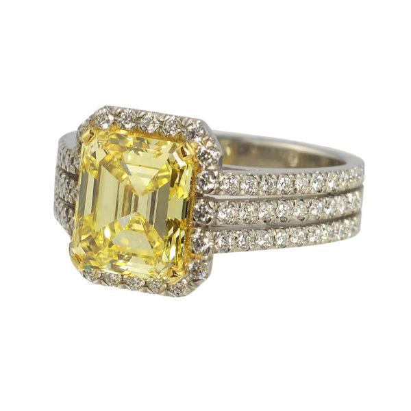 Silverhorn yellow diamond ring