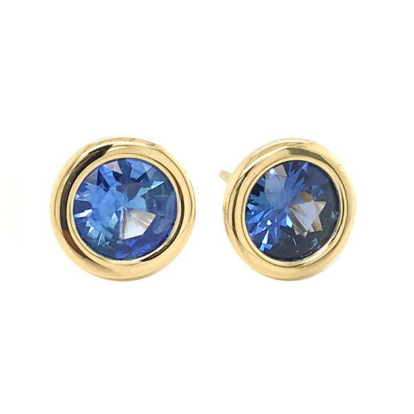 Silverhorn Sapphire and gold earrings