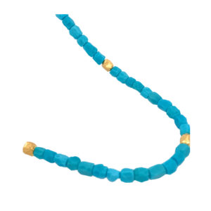 Silverhorn Turquoise nuggets set in 18 kt. Rose gold