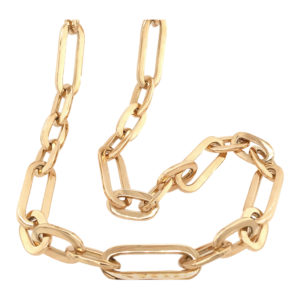 Silverhorn gold link chain necklace