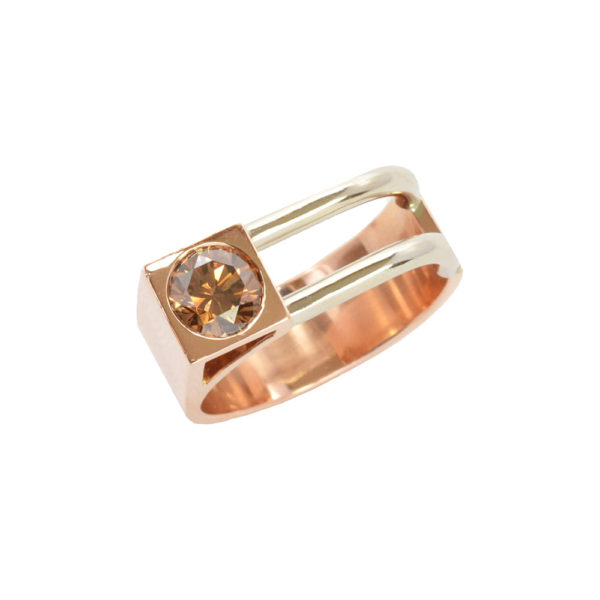 Silverhorn mens ring