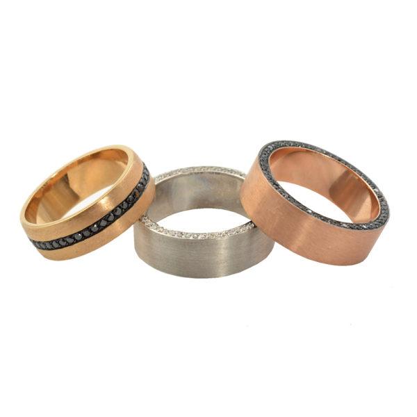 Silverhorn mens rings