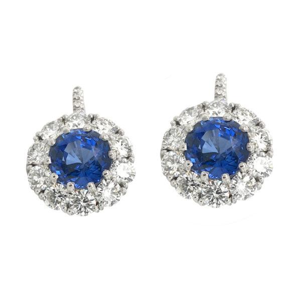 Silverhorn sapphire earrings