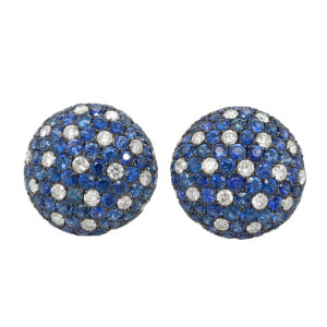 Silverhorn Sapphire Stud Earrings