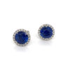 silverhorn round sapphire diamond stud earrings