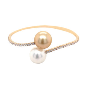 Silverhorn gold and pearl bracelet