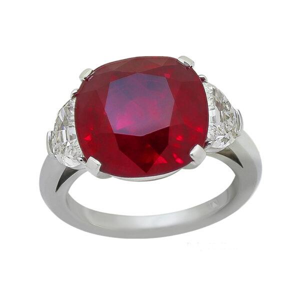 Silverhorn large ruby ring