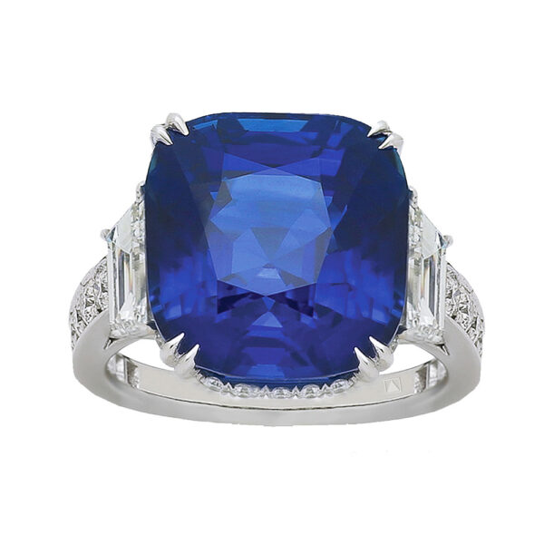 Silverhorn large sapphire ring