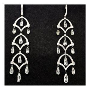silverhorn diamond chandelier earrings