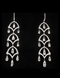 silverhorn diamond chandelier earrings round face