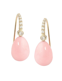 silverhorn pink opal drop earrings