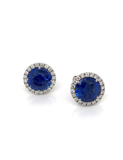 silverhorn sapphire diamond stud earrings