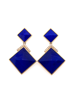 silverhorn triangle lapis earrings