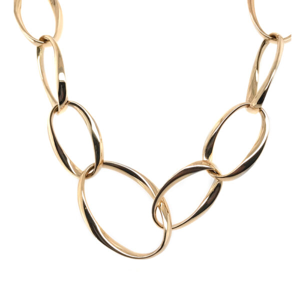Silverhorn 18kt Yellow Gold Chain with asymmetrical oval links
