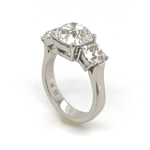 Silverhorn round brilliant cut diamond ring
