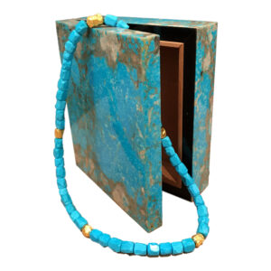 Silverhorn Jewelers Turquoise box and Turquoise nugget bead necklace