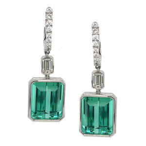 Silverhorn Jewelers emerald cut tourmaline earrings