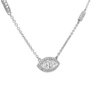 Silverhorn Jewelers marquise shaped diamond pendant