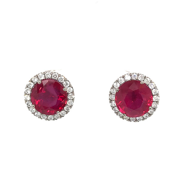 Silverhorn Jewelers ruby and diamond earrings