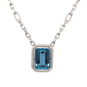 Silverhorn jewelers aquamarine pendant